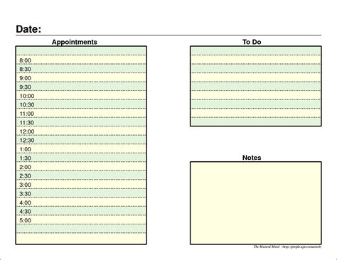 template templates 7 daily organizer template bookletemplate org