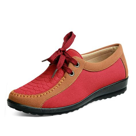 Is Lace Comfortable by Us Size 5 10 Casual Flat Shoes Outdoor Lace Up