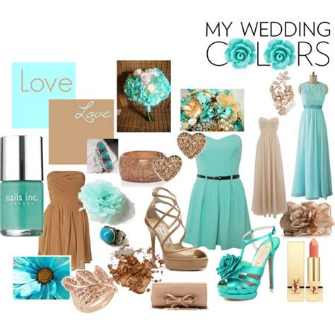 my wedding colors turquoise and coffee brown created by missguitar on polyvore and they