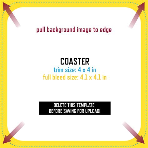 coaster size template gallery templates design ideas