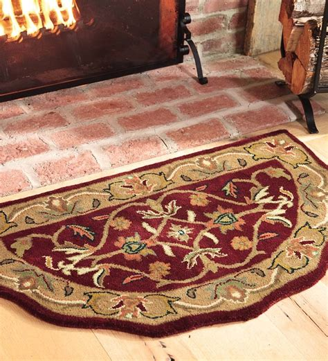 fireproof rugs for fireplace plow hearth 174 scalloped wool hearth fireproof rug