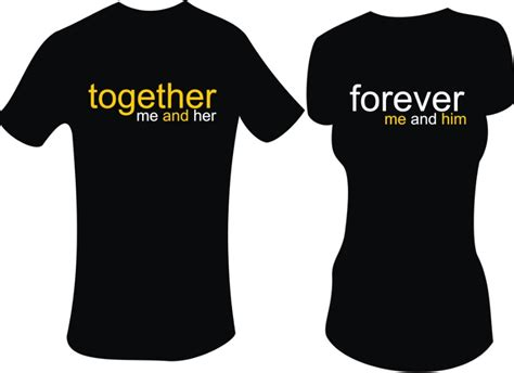 desain kaos couple depan belakang styles kekinian