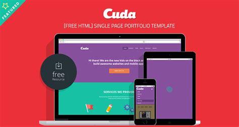 Cuda Single Page Portfolio Template Free Html Free Html5 Templates Single Page Portfolio Template Free