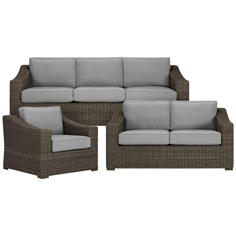 outdoor living room sets city furniture canyon3 gray outdoor living room set