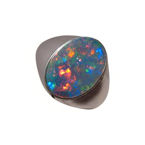 mens opal ring sterling silver or 14k gold flashopal