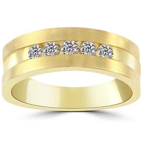 0 50 carat mens wedding band ring 14k