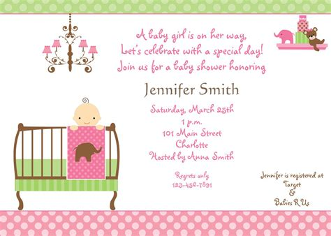 invites for baby shower girl baby shower invitations for girls baby shower