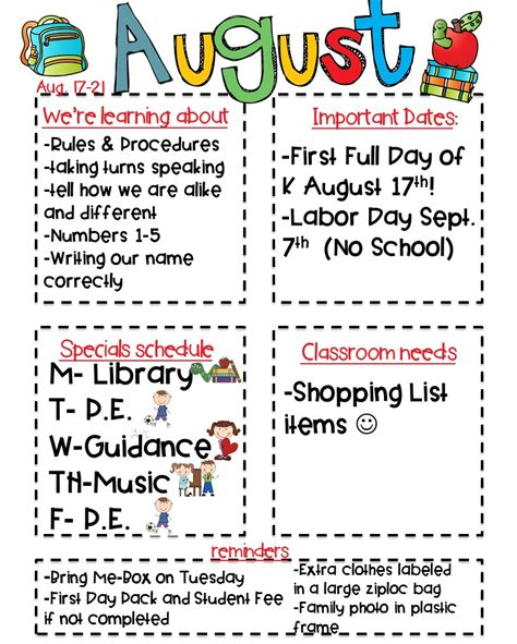 kindergarten weekly newsletter template classroom newsletter freebie kickin it in kindergarten