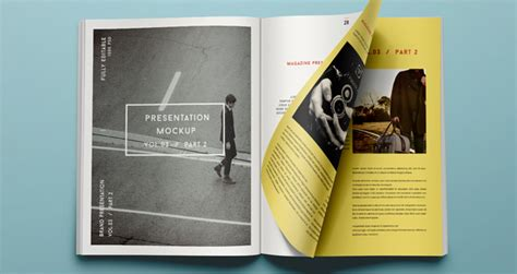 Psd Magazine Mockup View Vol3 2   Psd Mock Up Templates