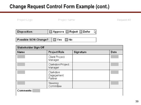process change request form template frank ritter reporting governance