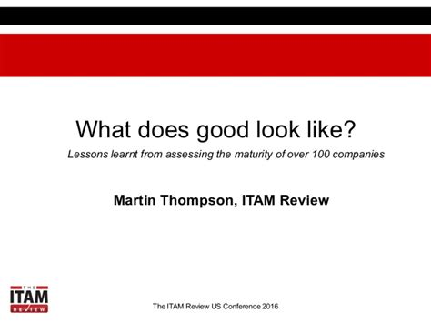 what does look like lessons learnt from assessing