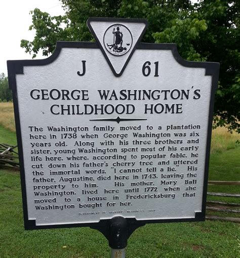 washington s george washington s boyhood home 1738 1754 pic of the