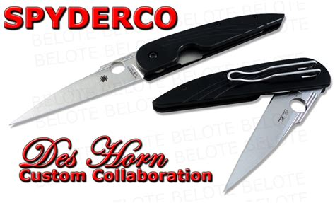 spyderco horn spyderco des horn custom collaboration plain edge s30v