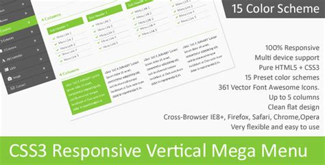 css creating vertical menu 25 best jquery css3 responsive mega menus tutorial zone