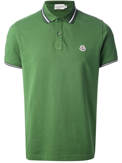 Polo 128 06 Chest Bag Green lyst moncler polo shirt in green for