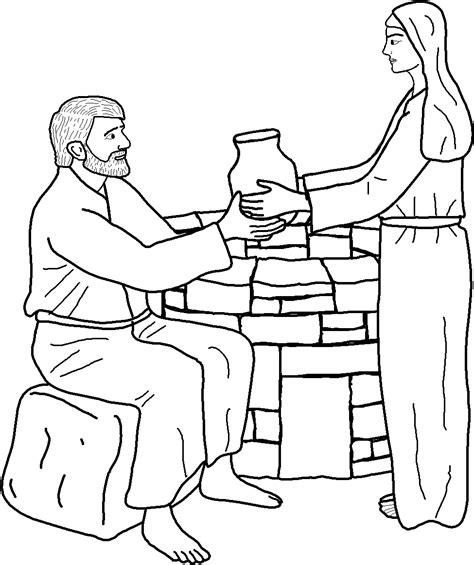 printable coloring pages woman at the well 1000 изображений на тему 171 иисус и ученики в pinterest