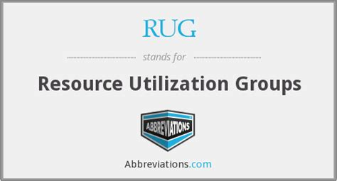 Resource Utilization Groups Rugs by Rug Resource Utilization Groups