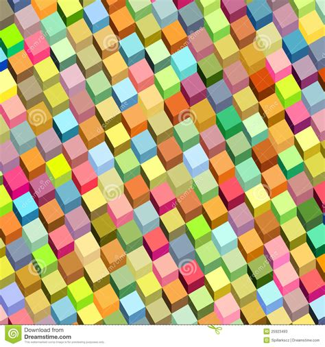 color pattern in rainbow abstract cube pattern rainbow color stock photos image