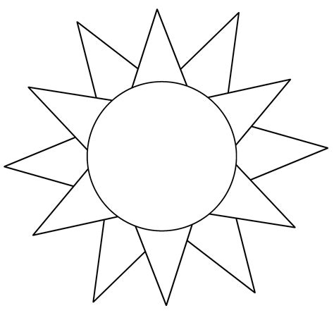 sun template pictures to pin on pinterest pinsdaddy
