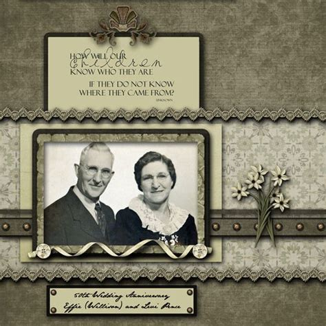 Wedding Anniversary Layout by How Will Our Children Who They Are Page 4 Of 50th