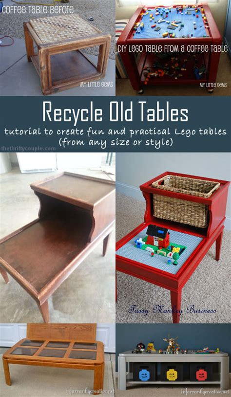 lego table diy end table 5 diy ideas to recycle tables into and practical