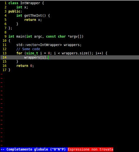 vim clang autocomplete pattern not found c how to have vim recognize the object type when
