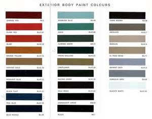 spridgetguru tech index leyland paint chips - Leyland Exterior Paint Colours