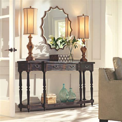 home decorators console table home decorators collection mitchell black rubbed storage