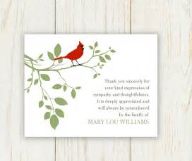 bird funeral thank you card digital file sympathy