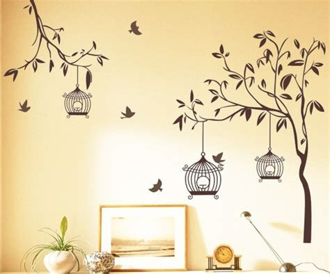 wall decals trees and birds tree and bird wall stickers peenmedia