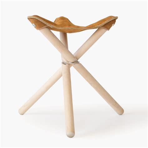 backcountry stool leather wood folding stool