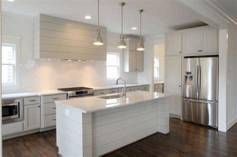 Shiplap Island Revere Pewter Kitchen Carrara Marble Shiplap Vent