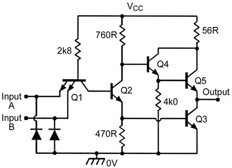 exle of xor nand gate ic 7400 pin diagram all the best gate in 2018