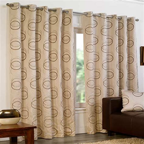 curtains with circles quebec circle print eyelet lined curtains ebay