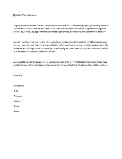 Reference Letter Learner Letter Of Recommendation Sles Recommendation Letter How To Write A Recommendation Letter