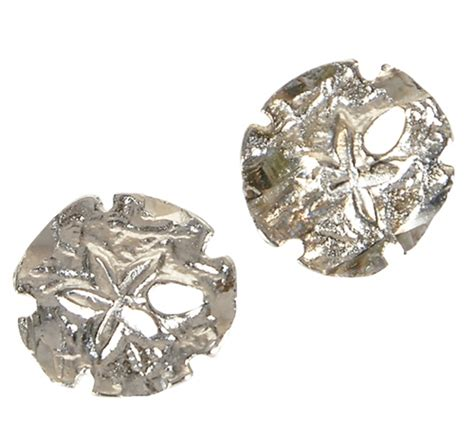 Sand Dollar Earring silver sand dollar stud earrings