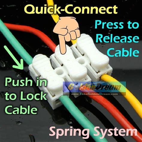 Conector Kabel Listrik jual connect 3 wire connector terminal