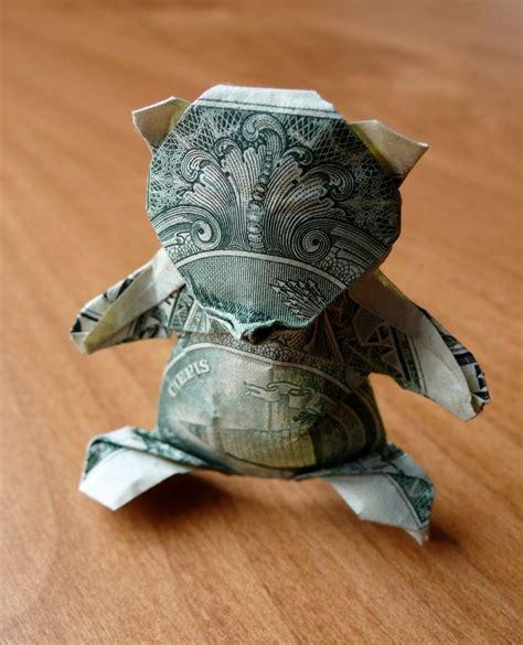Teddy Origami - teddy money origami money dollar origami