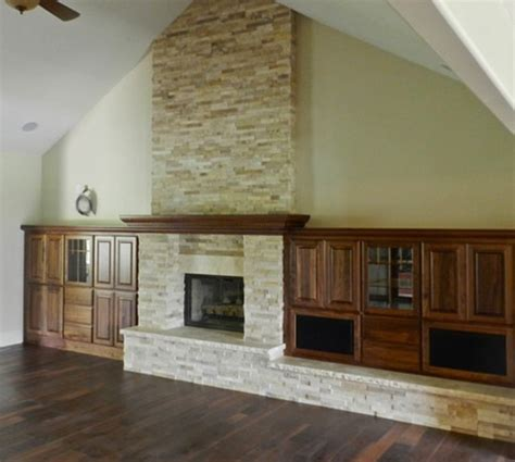 stone with built ins stone fireplace with built ins traditional family room