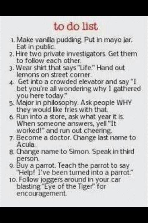 new years resolution funny to do list random lifestyle
