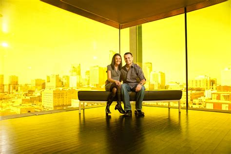 guthrie theater yellow room in guthrie theater yellow room with minneapolis skyline minneapolis wedding photographer