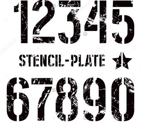 number stencils  sample  format