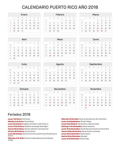 calendario a 241 o 2018 feriados