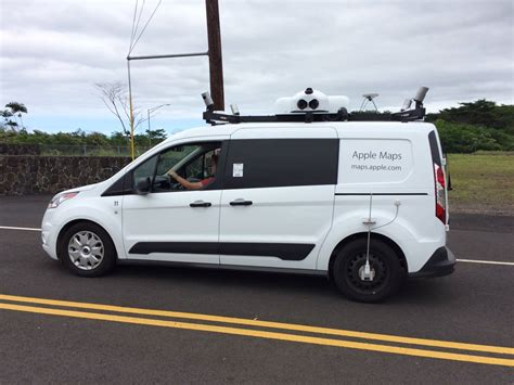 maps car apple mapping car being spotted around the big island