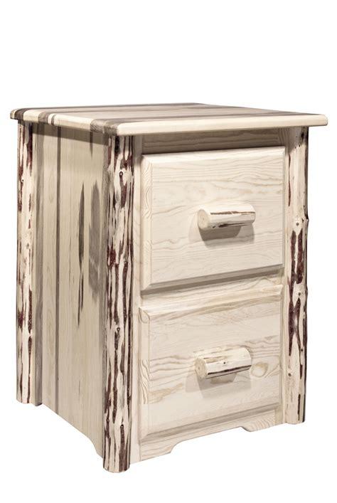 unfinished wood file cabinet 2 drawer pine log furniture unfinished montana 2 drawer file