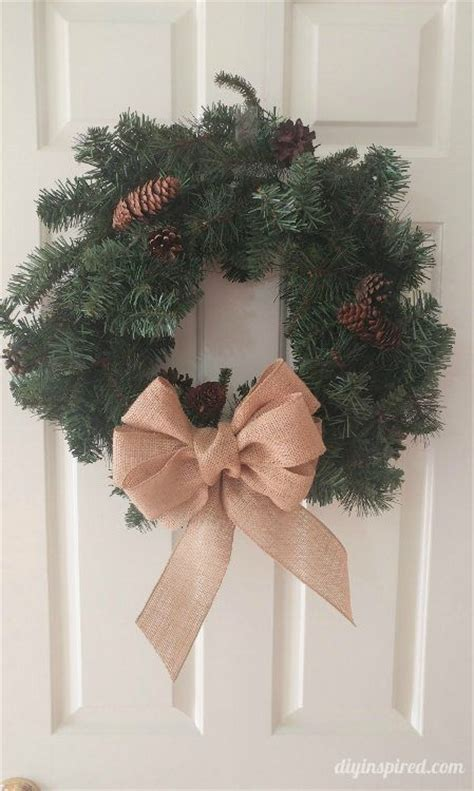 how to make a burlap bow tree topper detailed for how to make a burlap bow for wreaths garland tree toppers and more