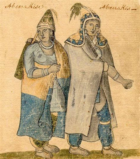 Montreal Records Abenaki An 18th Century Watercolor By An Unknown Artist Courtesy Of The City