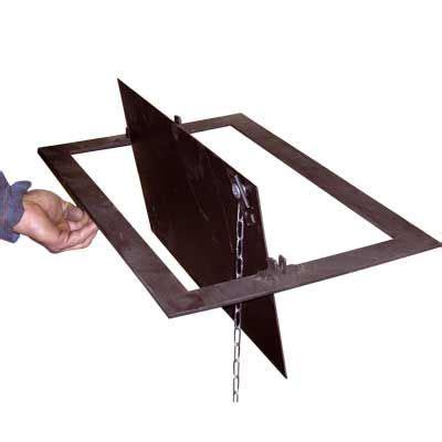 trappe de cheminee 0239 trappe de fermeture de conduit de cheminee 30 x