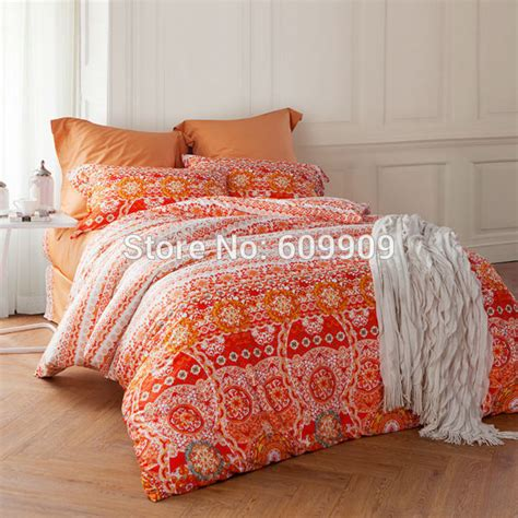 bohemian bed sheets aliexpress com buy moroccan bedding orange bohemian and