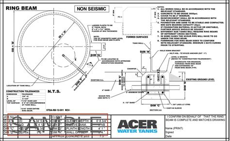 design criteria for water tank resources acer water tanks